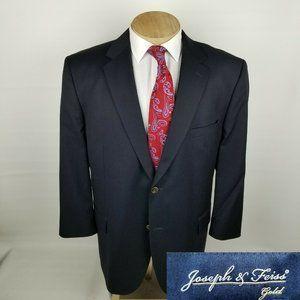 Joseph Feiss Gold Mens Blazer 48R Navy Blue